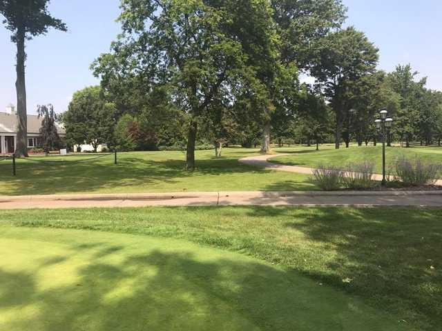 A sunny day view from Elyria Country Club.