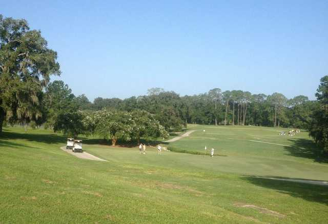 A view of a green at Ocala Golf Club.