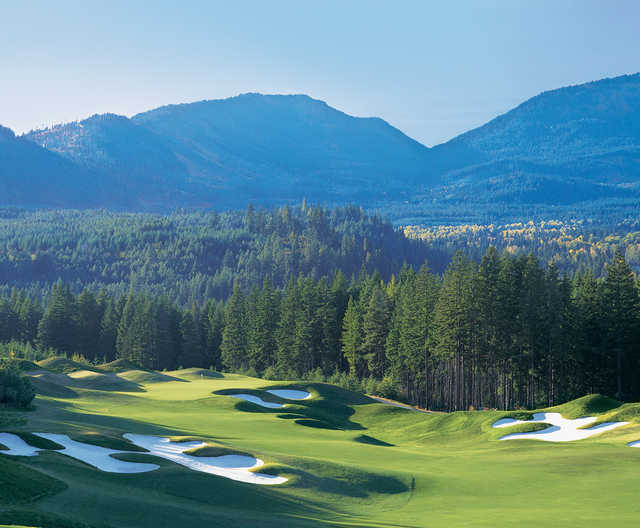 View of the 10th hole from the Prospector Course at Suncadia Resort