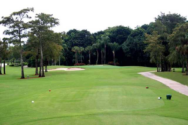 A view from the 2nd tee at South Course from Boca Lago Country Club.