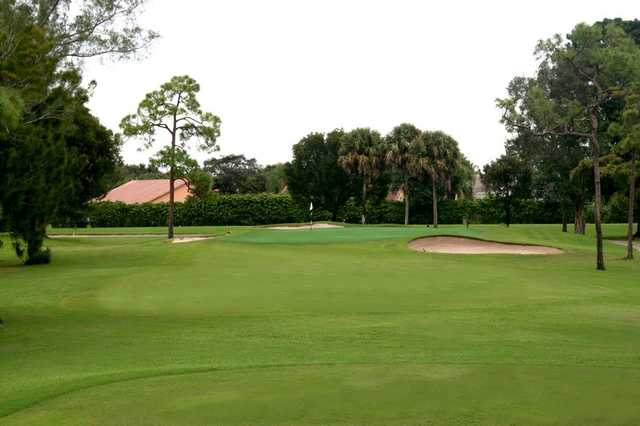 A view of the 5th green at West Course from Boca Lago Country Club.