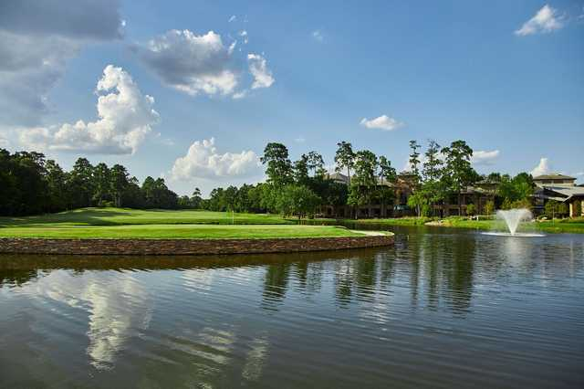 A view of a hole at The Golf Trails of The Woodlands.