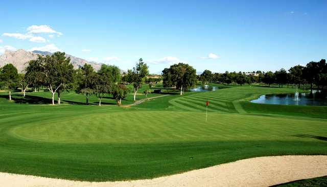 A view of a green at Omni Tucson National Golf Resort & Spa.