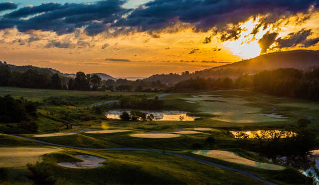 A sunset view from Wild Turkey Golf Club.