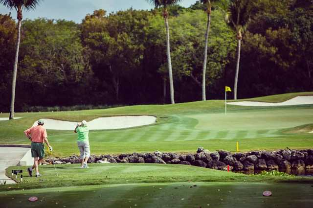 A view from a tee at Ocean Reef Club.