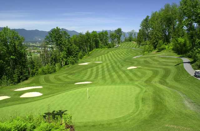 A view of the 8th green at The Falls Golf Club.