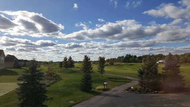 A sunny day view from Grey Hawk Golf Club.