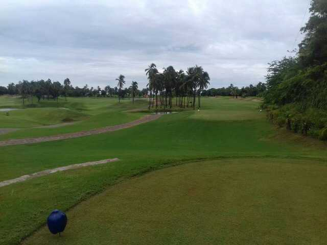 A view from a tee at Isla Navidad Country Club.