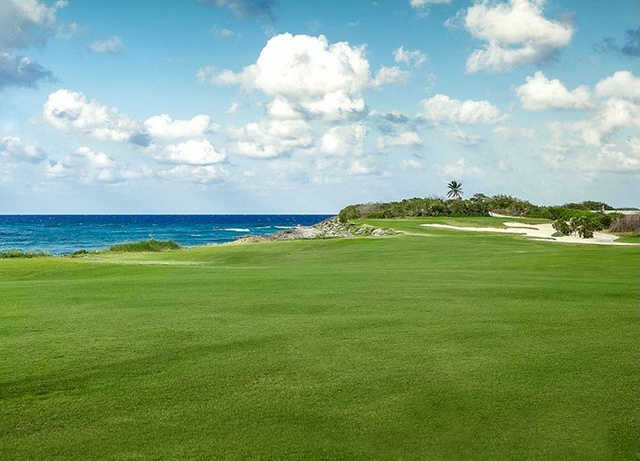 A view from a fairway at Isla Navidad Country Club.