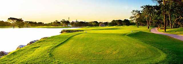 A view from a tee at Hard Rock Golf Club Riviera Maya.