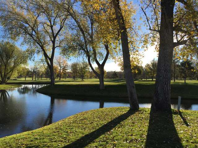 A sunny day view from Columbine Country Club.