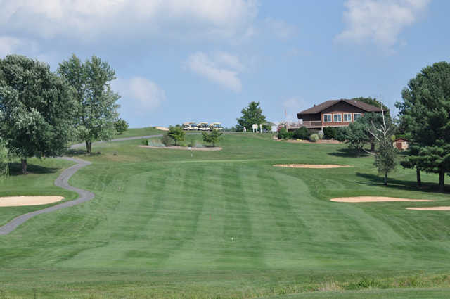 A view of the clubhouse at Lakeview Golf Club.