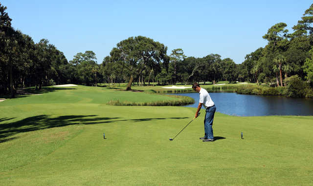 17th tee from Cougar Point at Kiawah Island Golf Resort