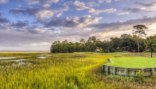 View of the 6th hole from Cougar Point at Kiawah Island Golf Resort