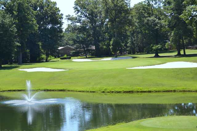 A view of the 17th green at Meadowbrook Country Club.