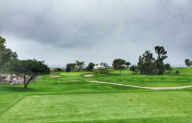 The par-3 11th hole at Torrey Pines South, renovated by Rees Jones prior to the 2008 U.S. Open.