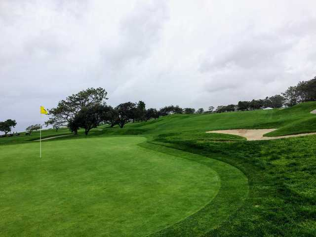 View from a green at South at Torrey Pines Municipal Golf Course