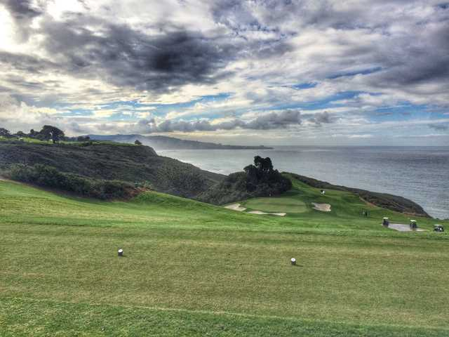 A view of Torrey Pines North's par-3 15th hole, which can play 202 yards from the black tees.