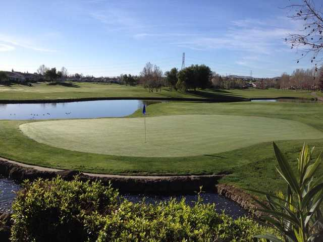 A view of a hole at Brentwood Golf Club.