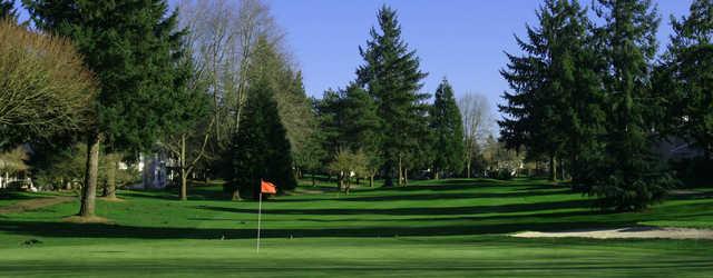 A view of a green at Charbonneau Golf Club.