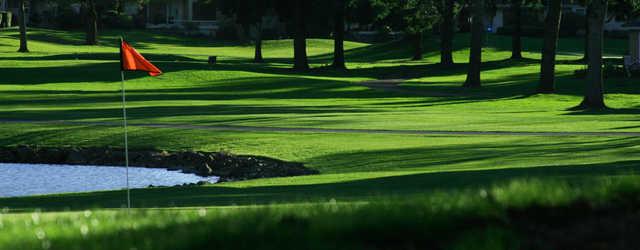A view of a hole at Charbonneau Golf Club.