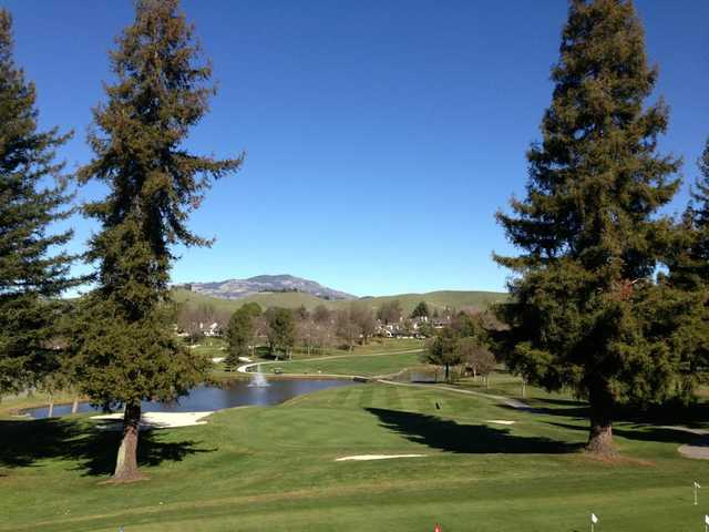 A sunny day view from Crow Canyon Country Club.