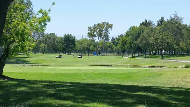 A view of a green at El Dorado Park Golf Club.