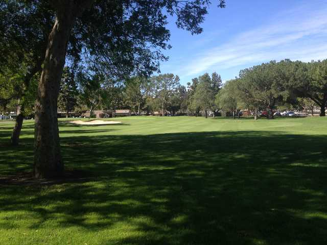 A view of the 9th hole at El Dorado Park Golf Club.