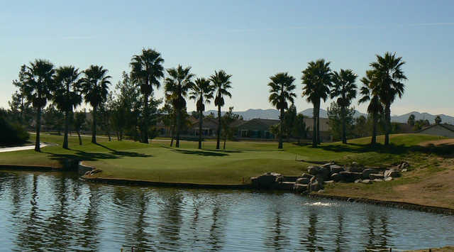 A view of hole #14 at The Palms Golf Course from Menifee Lakes Country Club.
