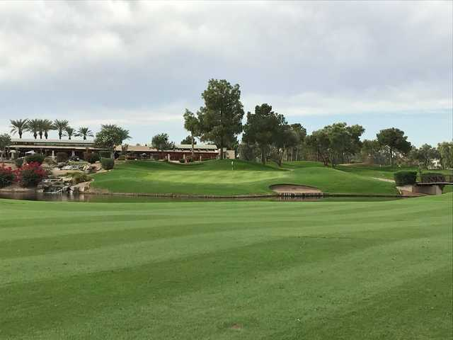 A view of a hole at Ocotillo Golf Club.