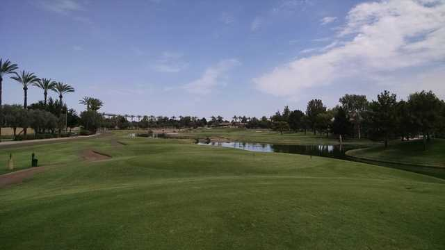 A view from a tee at Ocotillo Golf Club.