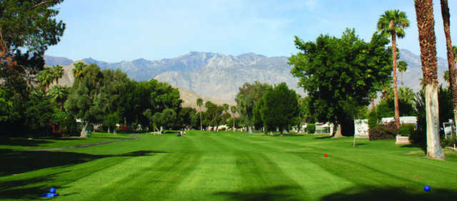 A view from a tee at Date Palm Country Club.
