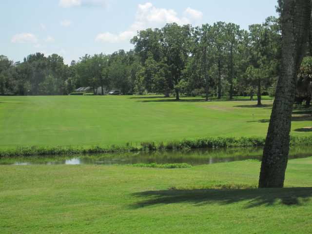 A view of a fairway at Gainesville Country Club.