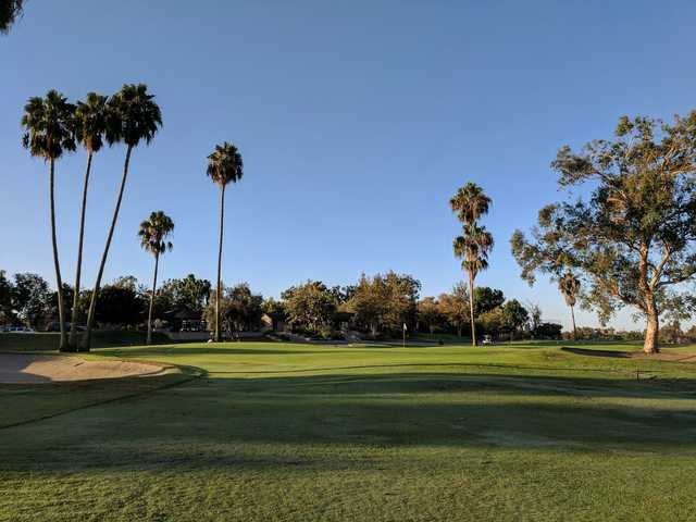 A view of a hole at Rancho San Joaquin Golf Course.