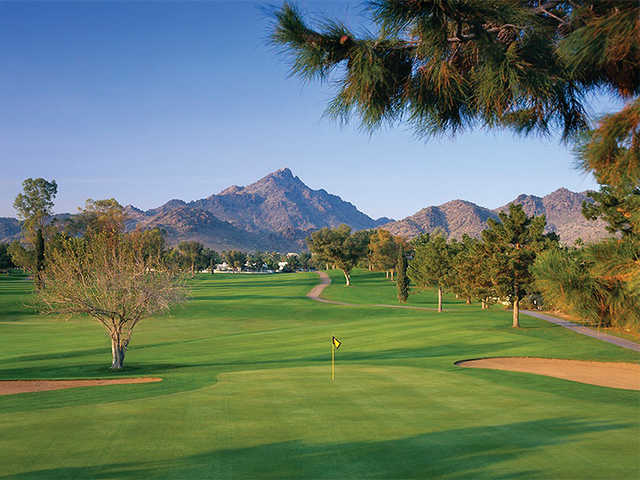 Looking back from the finishig hole at Arizona Biltmore Golf Club - Links Course