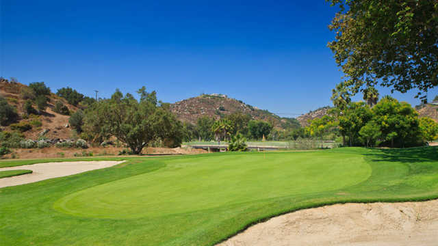 A view of the 9th hole from Oak Glen from Singing Hills Golf Resort at Sycuan.