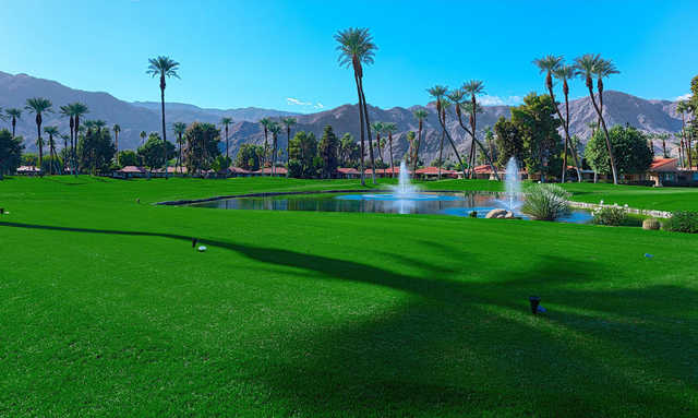 A view of a tee at Sunrise Country Club.