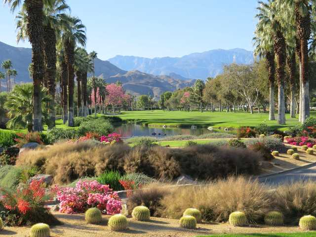 A view of a tee at Thunderbird Country Club.