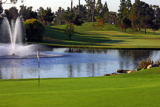 A view of hole #9 at Tustin Ranch Golf Club.
