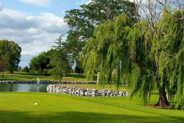 A view from a tee at Diamond Oaks Golf Course.