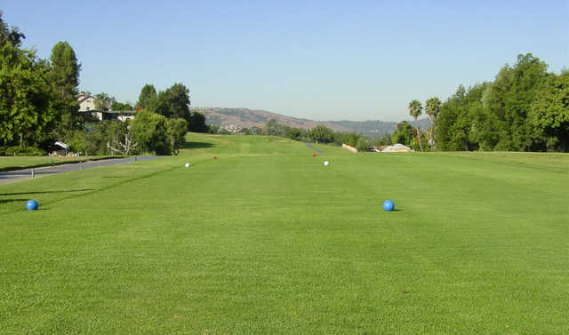A view from a tee at Los Angeles Royal Vista Golf Course.