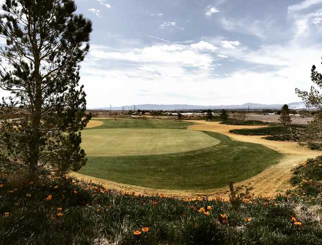 A view of a hole at Los Lagos Golf Club.