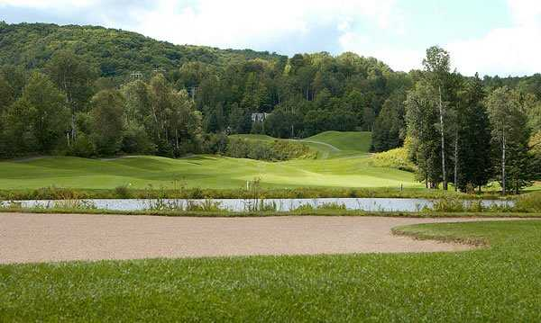 A view of the 4th hole from La Bete at Gray Rocks Golf.