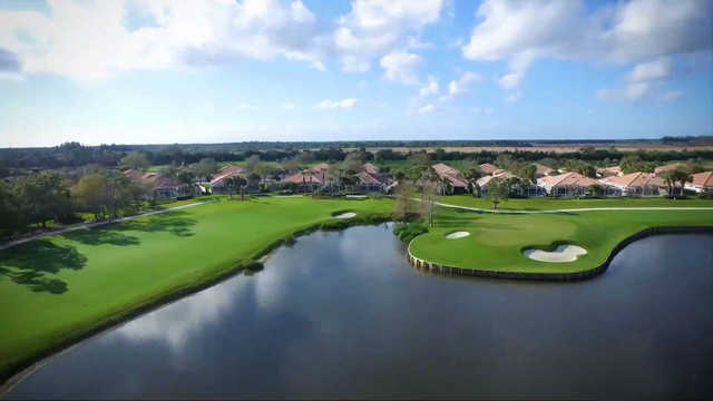 A view of the 16th green and 17th tee from The Florida Club
