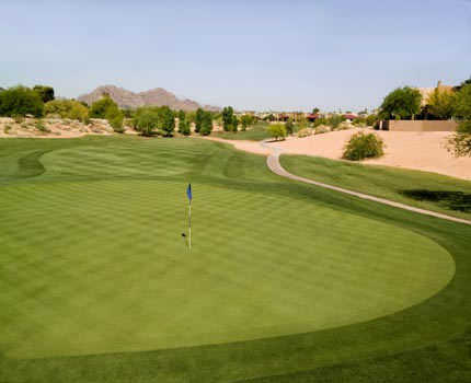 A view of a green at Scottsdale Silverado Golf Club