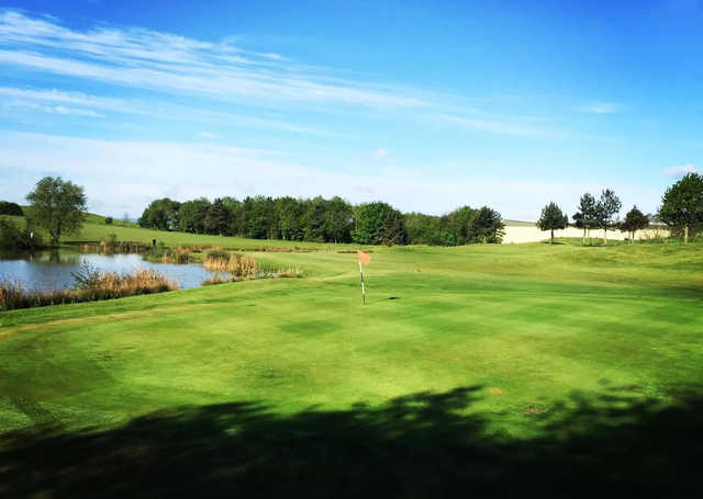 A view of a green at Barlborough Links Golf Club.