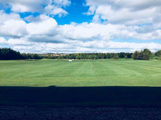 A view of the driving range at Barlborough Links Golf Club.