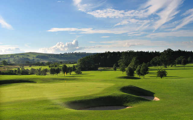 A view of a well protected hole at Kirkby Lonsdale Golf Club.