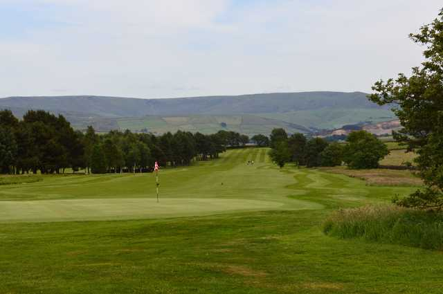 A view of a green at New Mills Golf Club.
