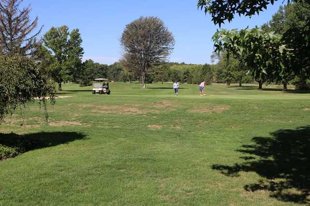 View of a green at Westlake Meadowood Golf Course